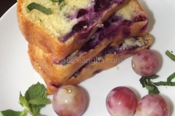 蓝莓薄荷磅蛋糕的做法