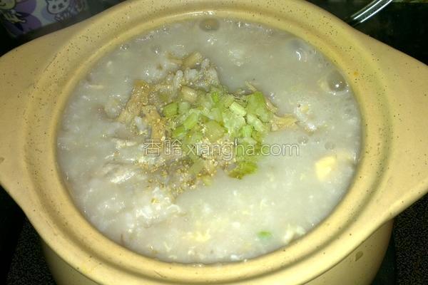 干贝芋香粥的做法