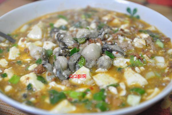 麻婆豆腐烩鲜蚵的做法