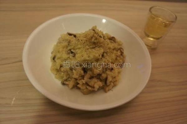 白酒野菇奶油炖饭的做法