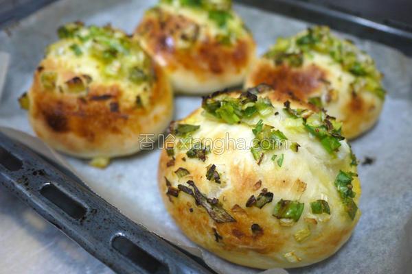 台式葱面包的做法