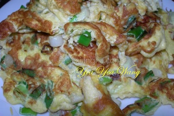 香葱炒鸭蛋的做法