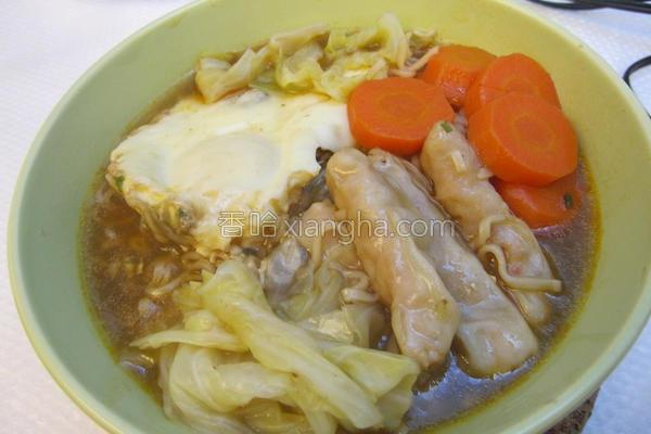 超营养虾饺泡面的做法