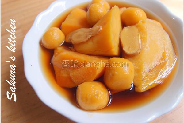 薯圆地瓜姜汁汤的做法