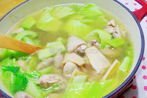 芥菜鲍鱼鲜鸡汤的做法