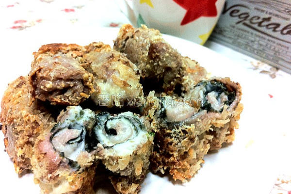 海苔芝司乐肉卷的做法