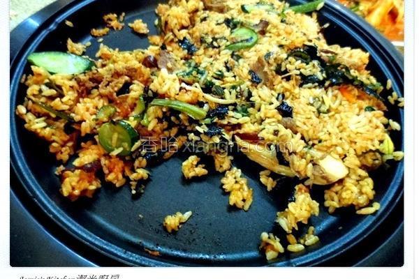 韩式石锅烤肉拌饭的做法