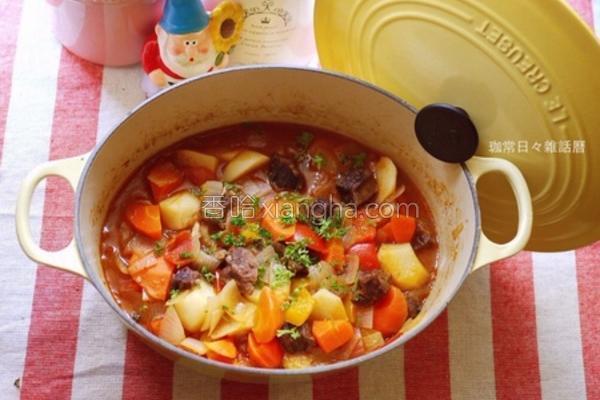 野菜炖牛肉的做法
