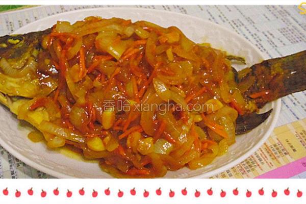 茄汁葱烧鱼的做法