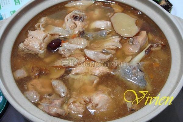 私房麻油鸡汤的做法