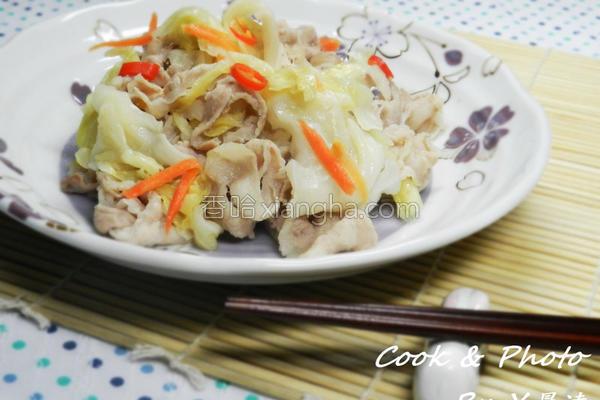 台式泡菜炒肉片的做法