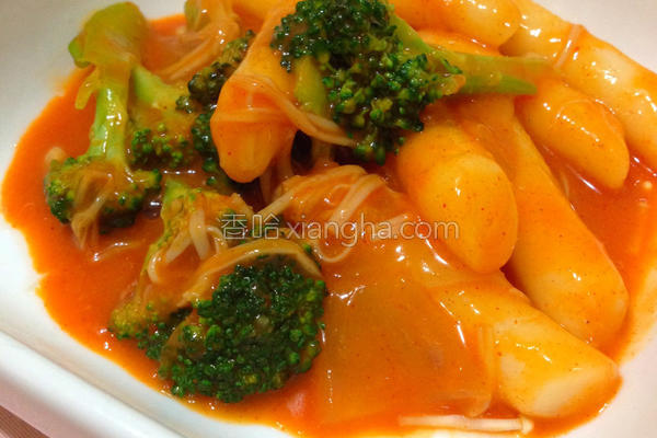 蔬菜辣炒年糕的做法