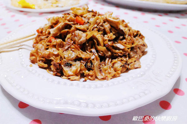高丽菜干炒肉末的做法