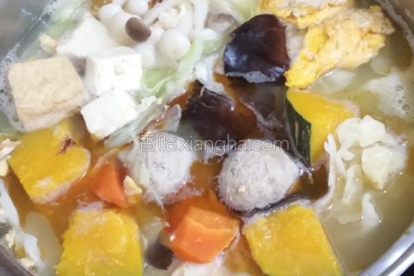 麻油鸡蛋火锅的做法