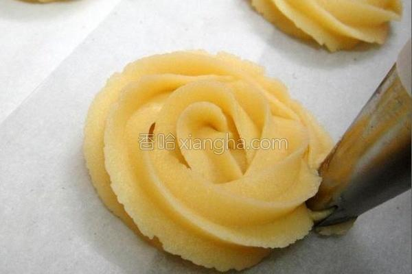 玫瑰花饼干的做法