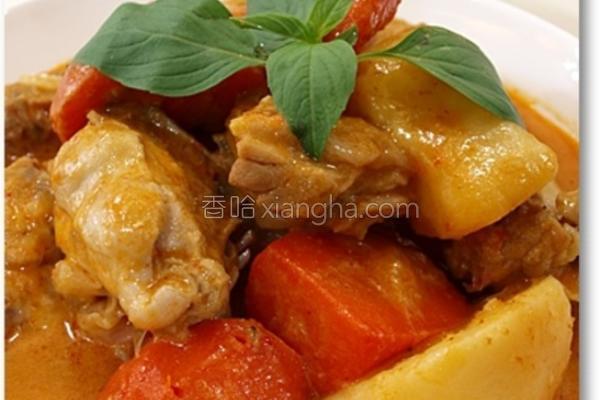 椰汁红咖哩鸡的做法