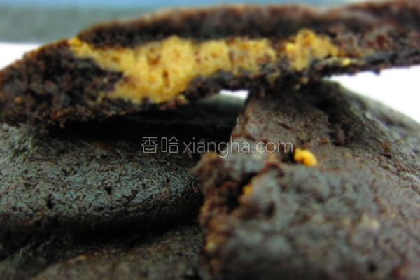 巧克力花生夹心饼的做法