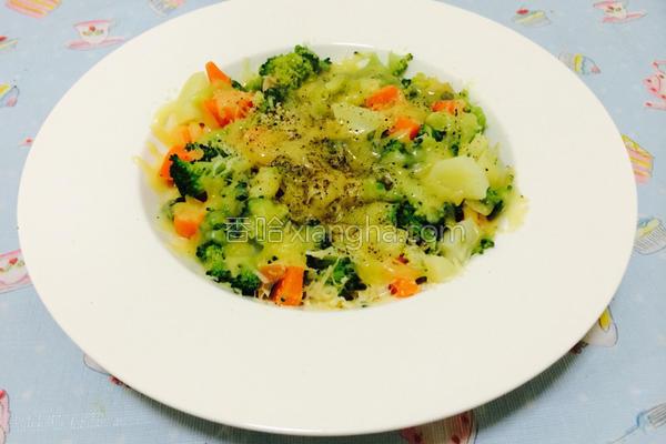 起司焗烤蔬菜盘的做法