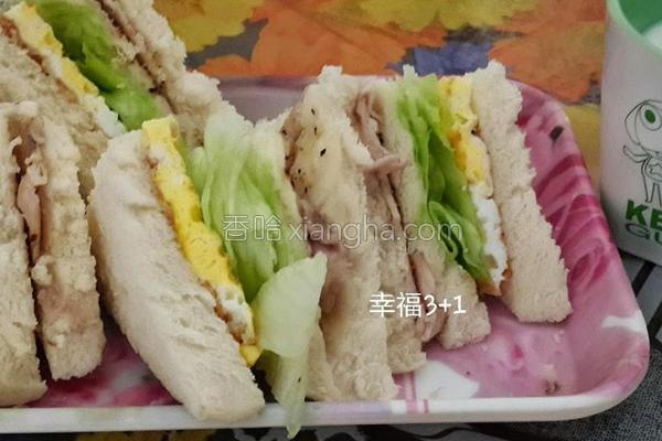 猪排三明治的做法