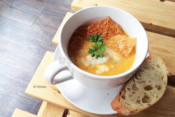 红萝卜浓汤的做法