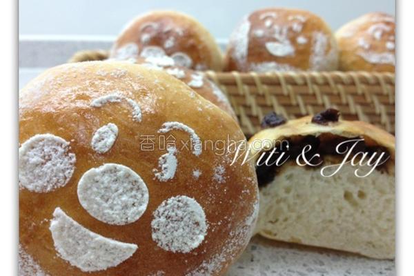 天然酵母红豆面包的做法