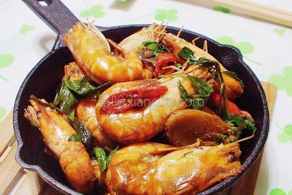 三杯泰国虾的做法