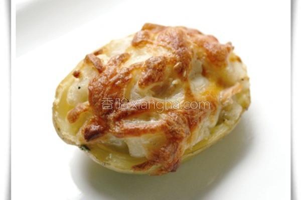 焗烤鲑鱼马铃薯的做法