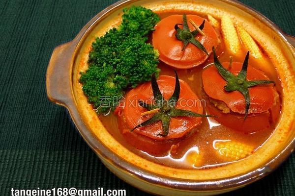镶番茄红运滚滚煲的做法