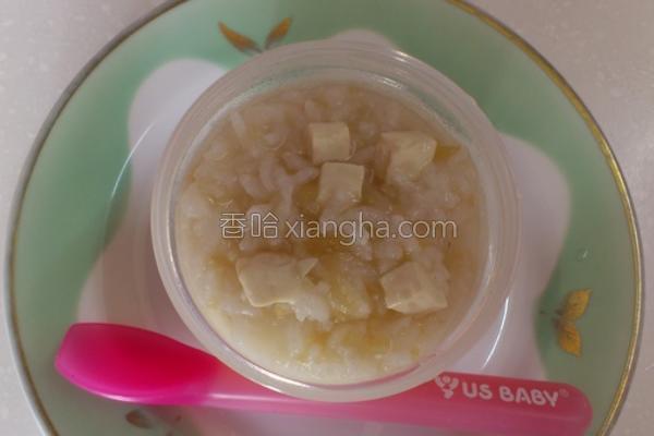 雪梨苹果豆腐粥的做法