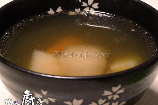 水晶梨粟米汤的做法