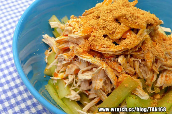 红油西芹鸡丝沙拉的做法