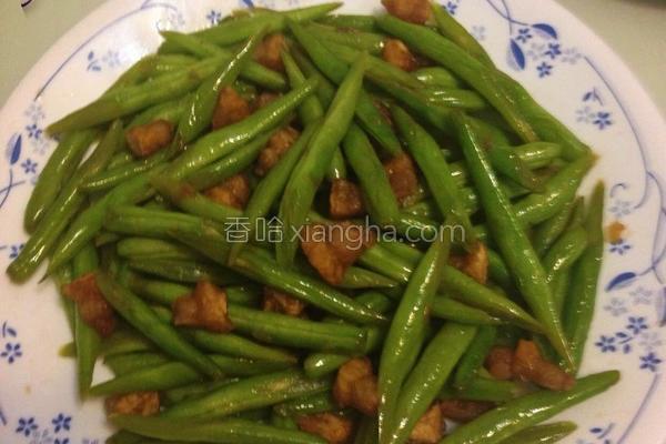 自制猪油炒四季豆的做法