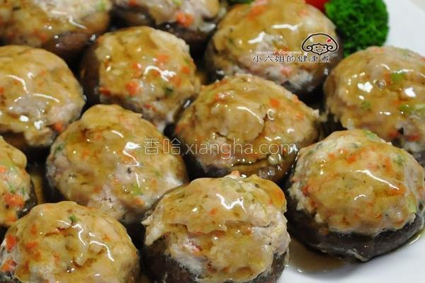 香菇镶肉的做法