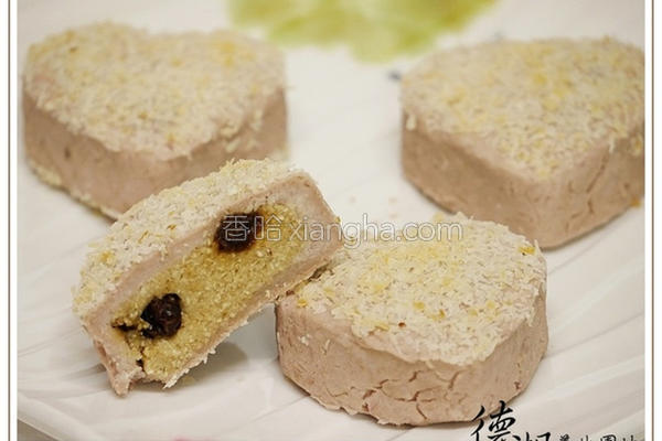 芋头椰子酥餐包的做法