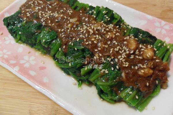风香麻菠菜的做法