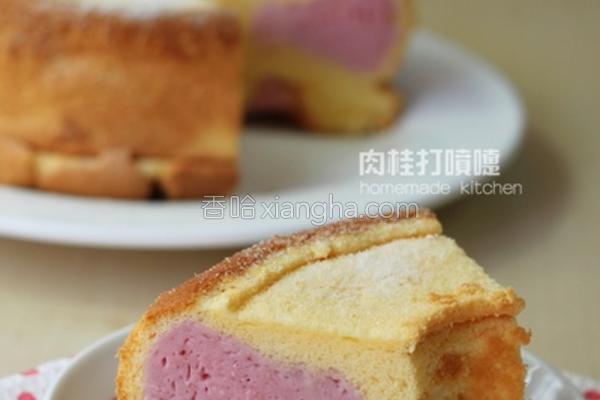 粉红斑点慕斯蛋糕的做法