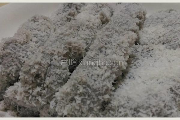 黑芝麻豆浆雪花糕的做法