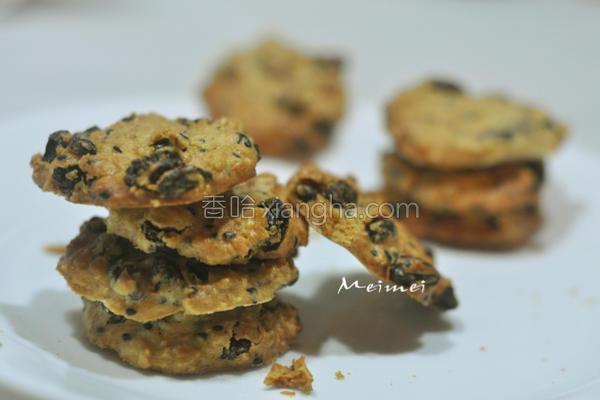 麦片葡萄饼干的做法