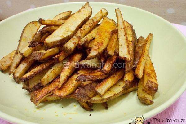 烤薯条的做法