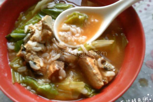 茄汁鲭鱼粥〞的做法