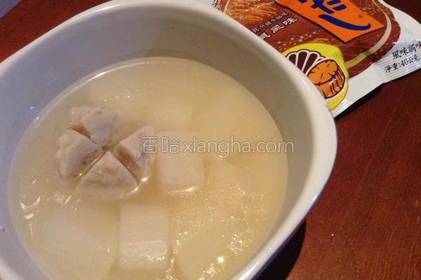 白玉鱼丸汤的做法
