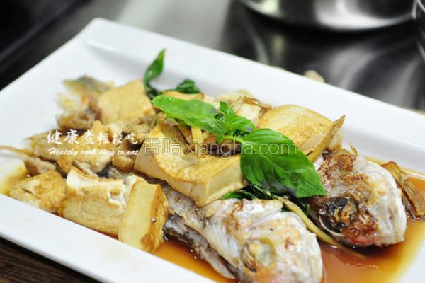 豆腐烧马头鱼的做法