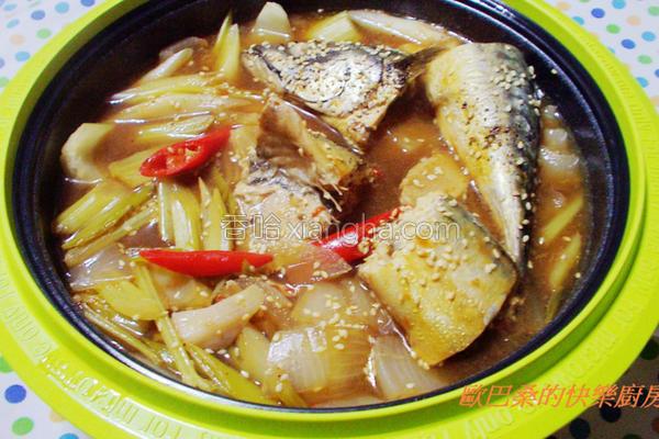 微波料理卤鲭鱼的做法