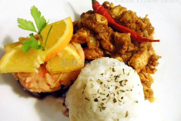 红椒泰式咖哩鸡的做法