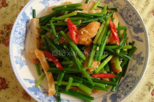 韭菜花炒甜不辣的做法