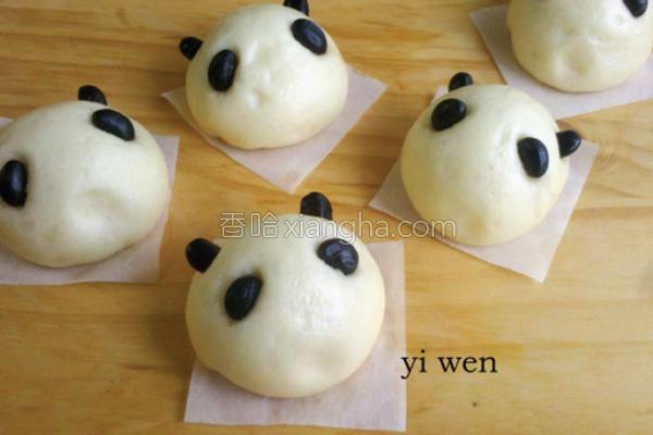 熊猫红豆包的做法