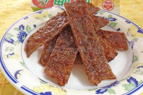 咖哩蜜汁猪肉干的做法