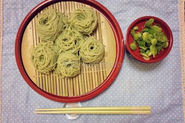 日式抹茶凉面的做法