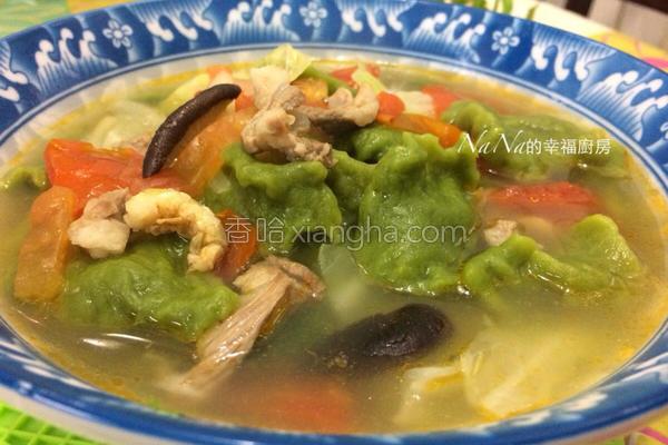 菠菜面疙瘩汤的做法