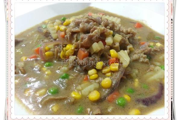绿咖哩牛肉的做法
